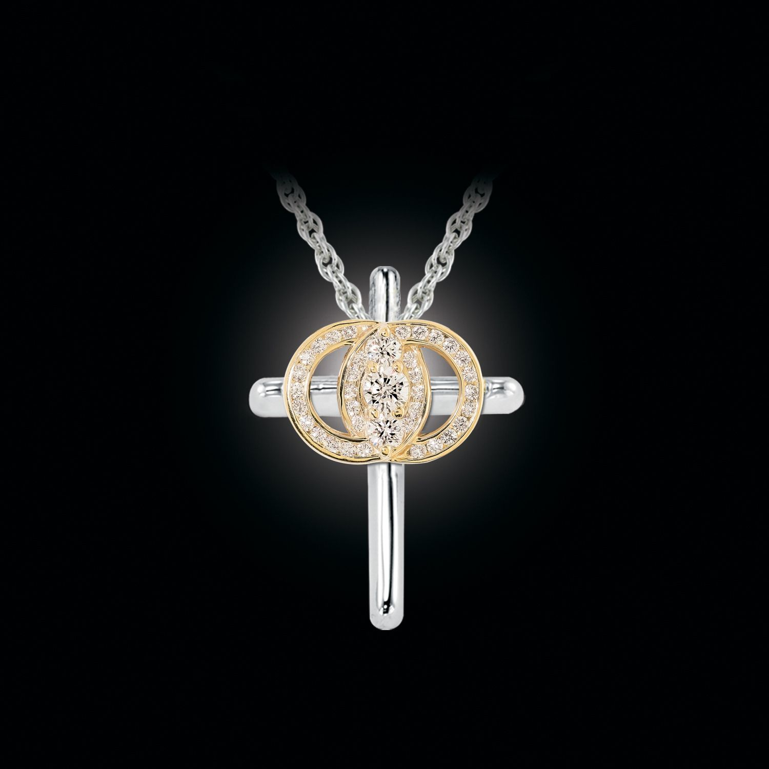 Christian Marriage Symbol Engagement Rings Wedding Jewelry