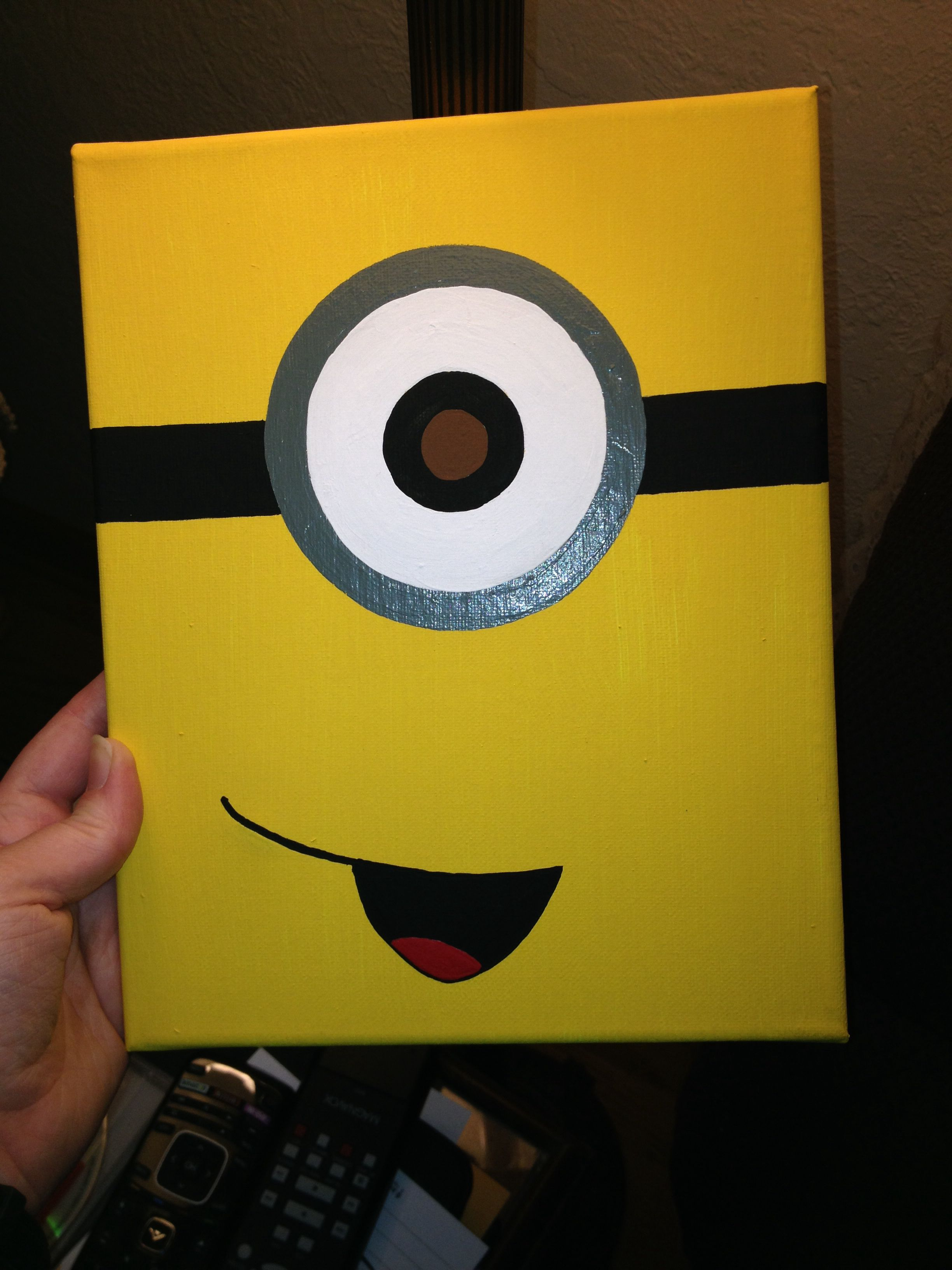 minion canvas my projects in 2019 easy canvas painting disney canvas paintings kids canvas art. Black Bedroom Furniture Sets. Home Design Ideas