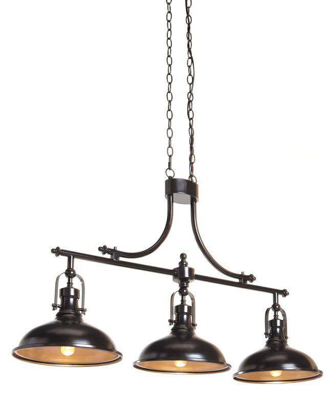 Fredela 3 Light Kitchen Island Linear Pendant Billiard Lights Elk Lighting Country House Decor