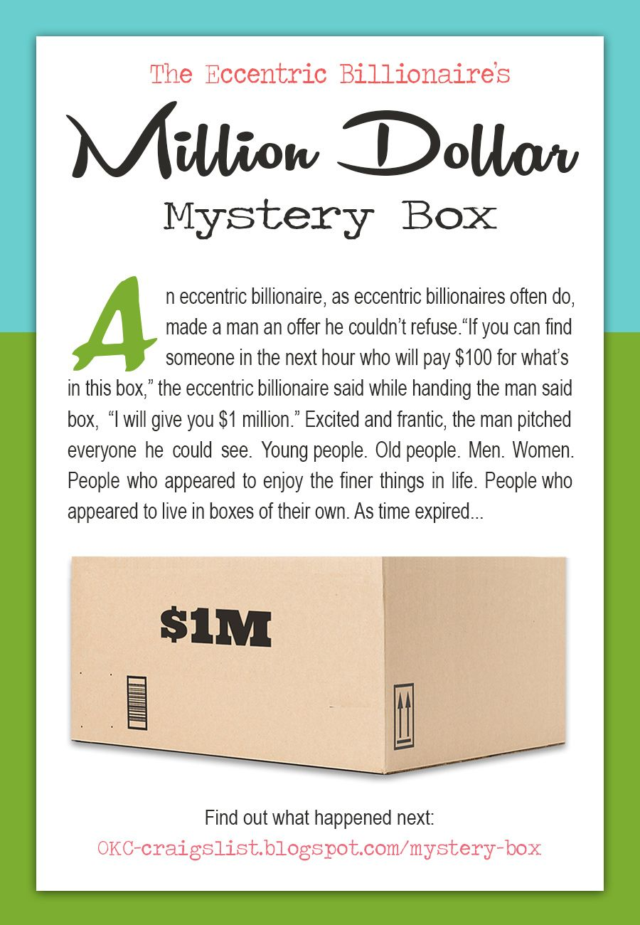 Do You Have What It Takes To Win The Million Dollar Mystery Box