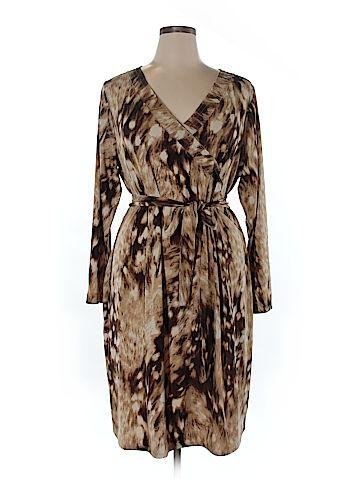 Pamela Dennis Women Casual Dress Size 1X (Plus)