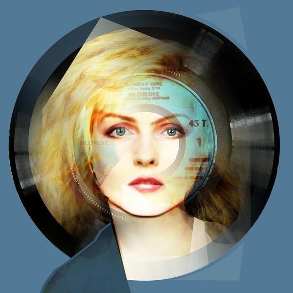 Sunday Girl Blue, 2015 : Debbie Harry Portrait - Limited Editions - Big Fat Arts | BFA Gallery | Czar Catstick - 1