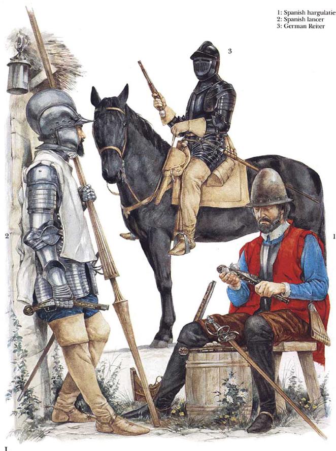 Richard Hook - Soldados de caballería hispano-alemanes, finales del siglo XVI
