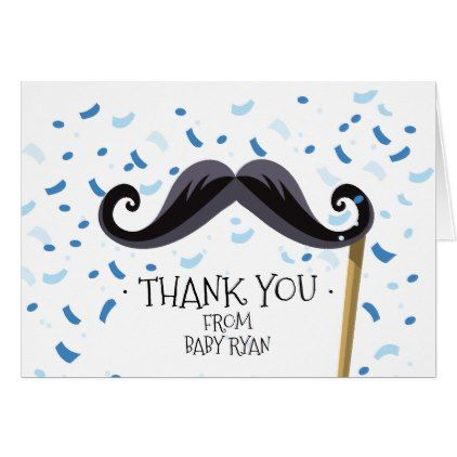 mustache baby shower thank you note card boy gifts gift ideas diy unique