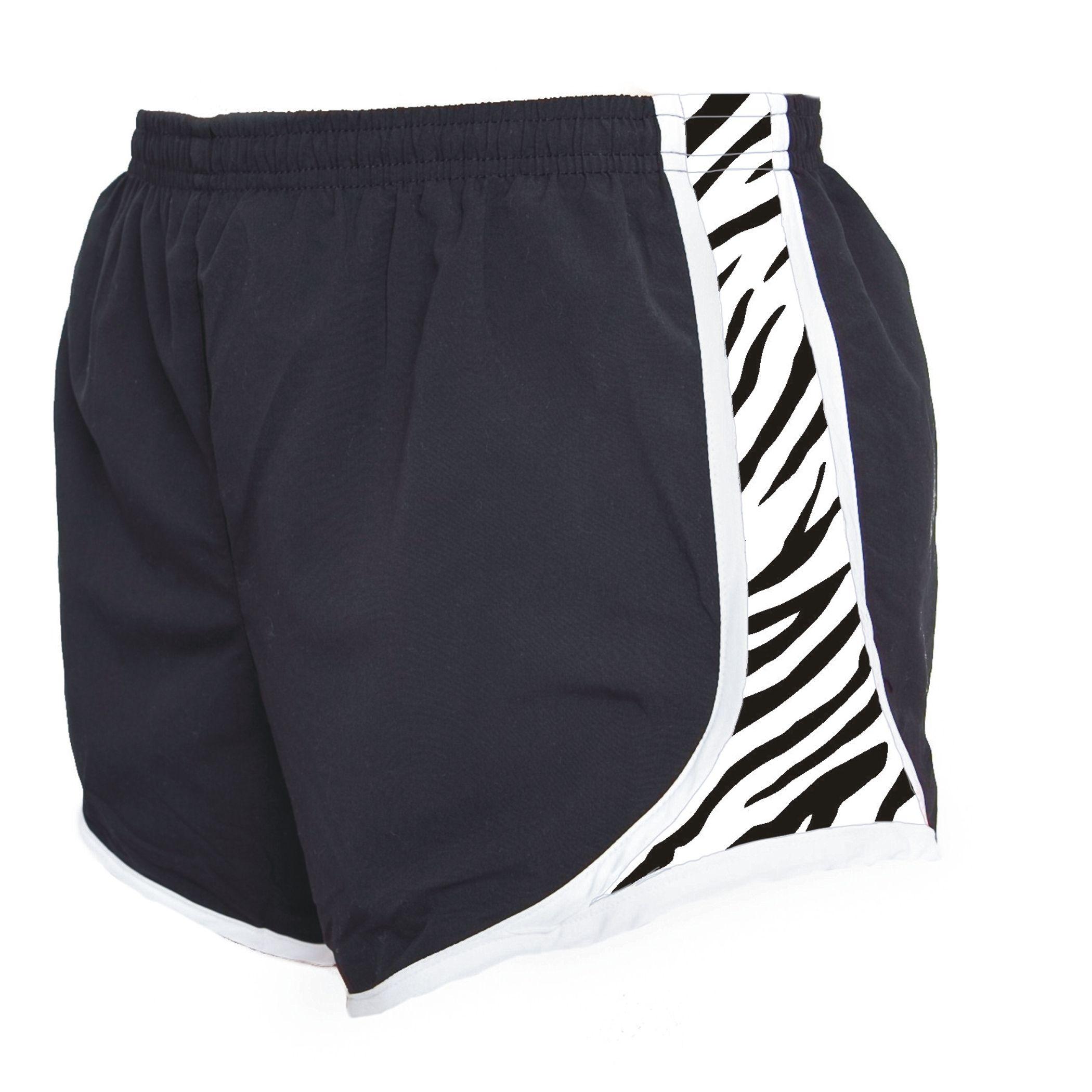 Black/WhiteZebra Running Shorts