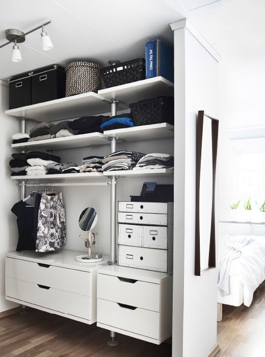 12 Ways To Increase Storage In A Small Bedroom Hunker Small Bedroom Closet Bedroom Clothes Storage Without A Closet