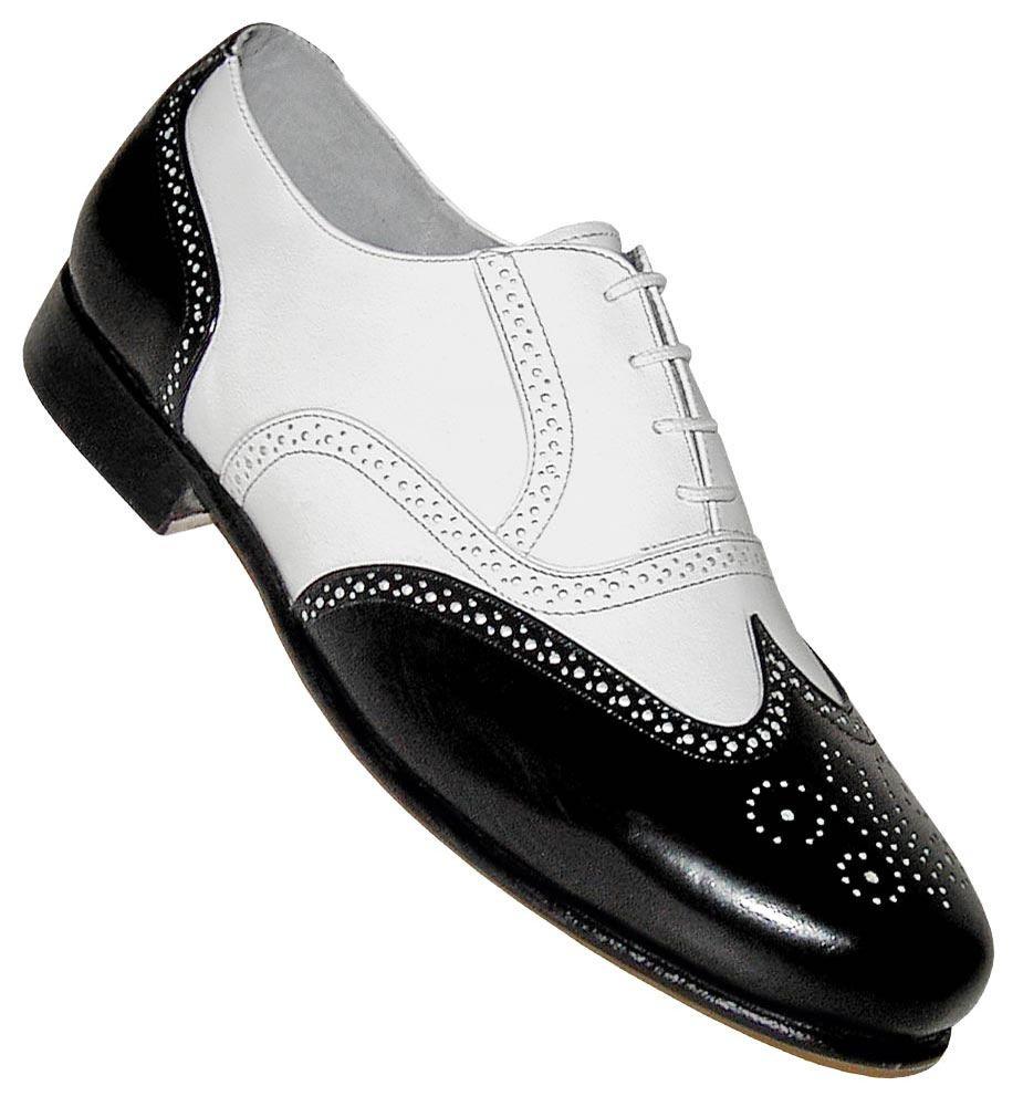 1940s Men S Shoes Boots Gangster Spectator Black And White Shoes Dress Shoes Men 1950s Mens Shoes Men S Shoes