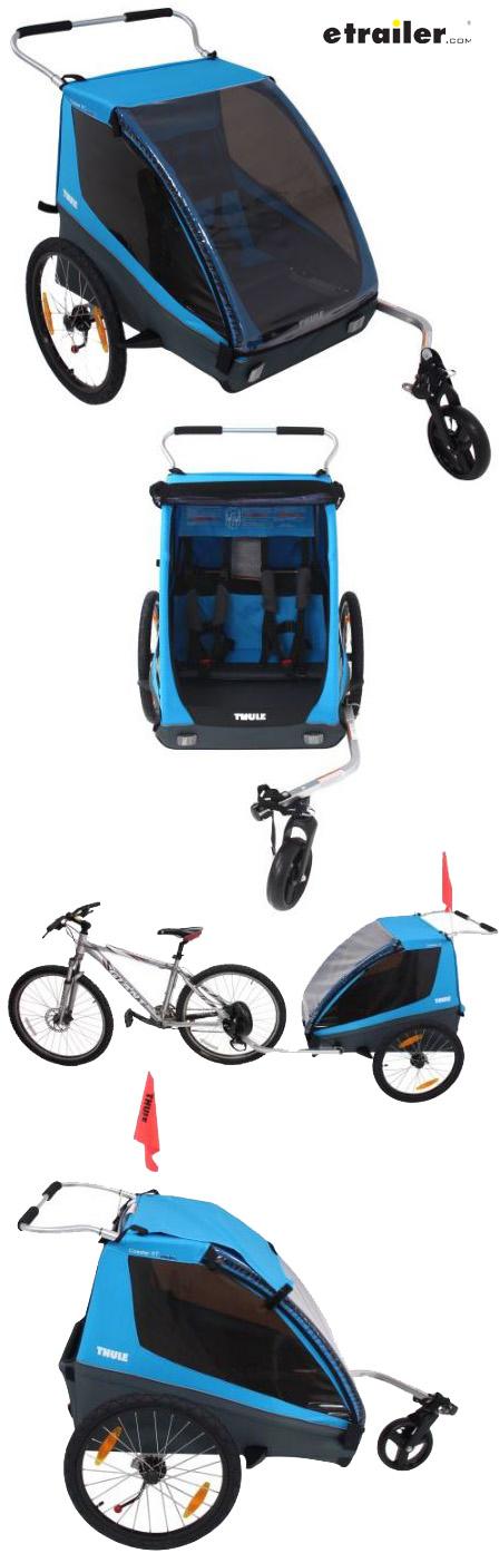 Thule Coaster Xt Bike Trailer And Stroller 2 Child Blue Thule Bike Trailers Th10101803 Thule Bike Trailer Bike Trailer Bike Hitch
