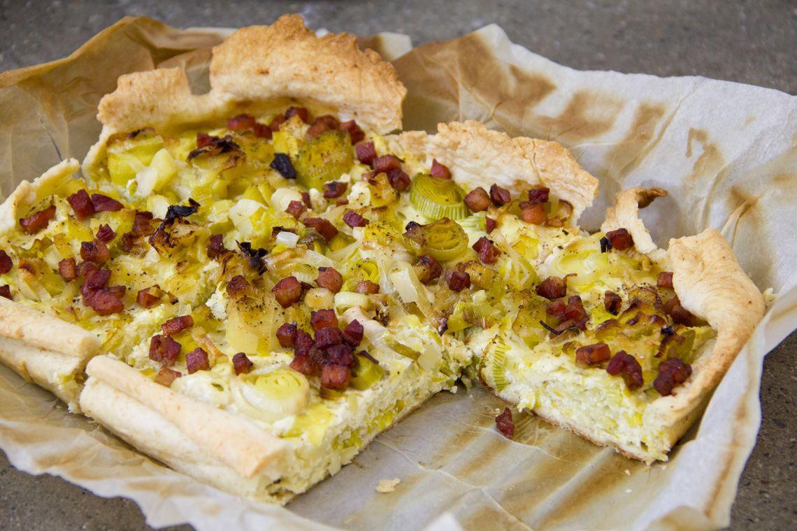 Ricetta Torta salata integrale porri e bacon - gnambox.com ...