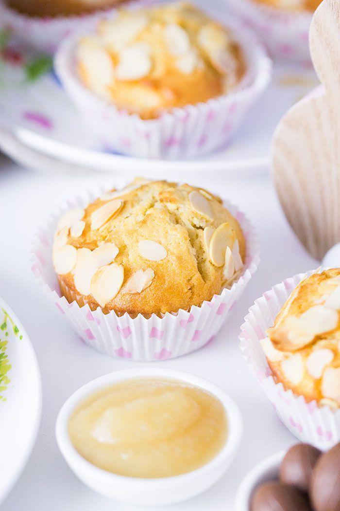 Apfelmus-Muffins mit Mandeln - Rezept | verzuckert-blog.de