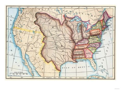 Map Of The US In Showing The Louisiana Purchase Maps Of - Map of us in 1805