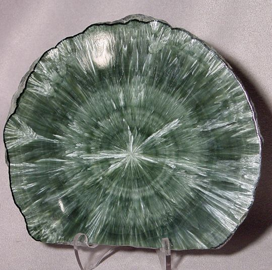 Seraphinite stalactite slice
