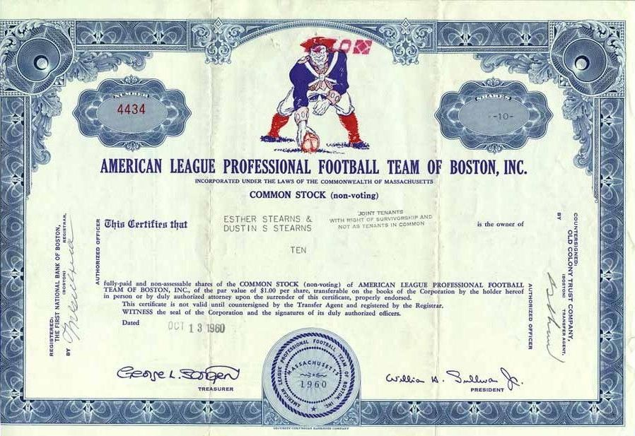 Remember the beginning--The Boston Patriots (est. 1960), in the old AFL.  #Patriots