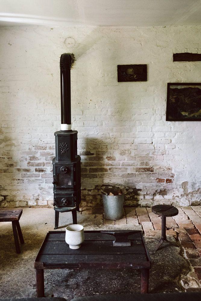 Die sch nheit des einfachen farmhouse cottage bauernh user landleben - Backsteinwand imitat ...