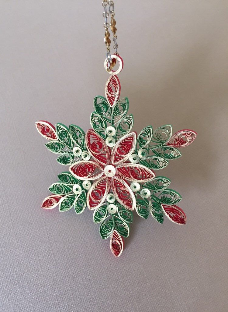 Quilling Christmas tree Ornaments, Paper Quilled w