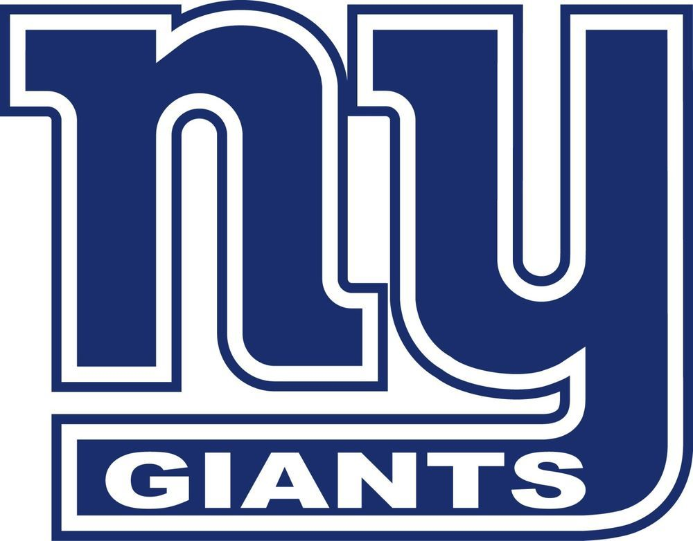 00d572cbd48 NEW YORK GIANTS ~ NY Logo ~ Window WALL DECAL   Vinyl Car STICKER ...