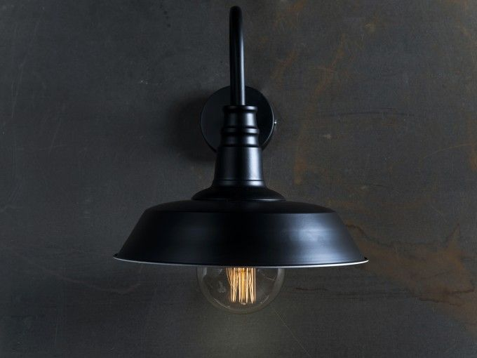 LAMPADA DA MURO D36xH35 cm nera Lampade, Muri