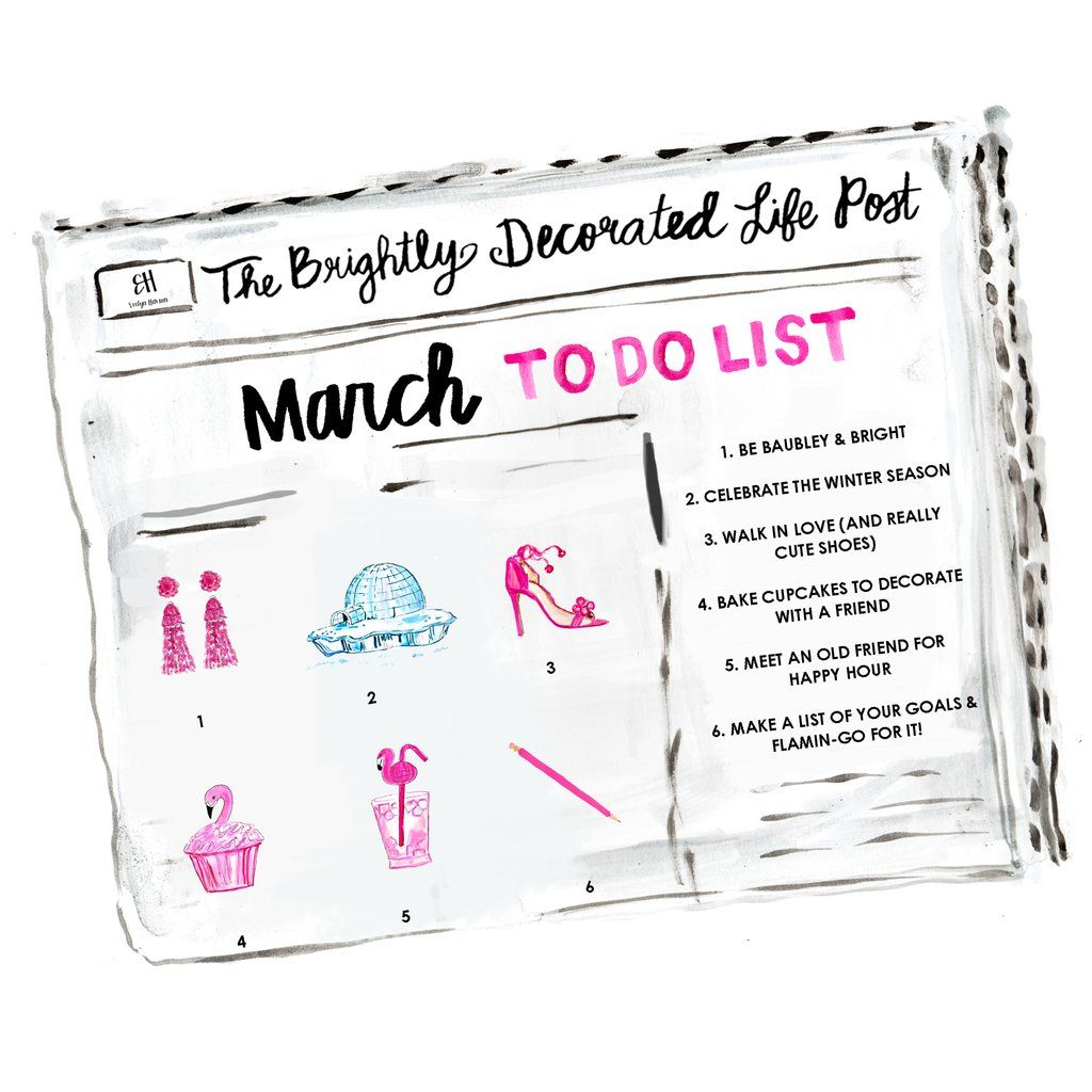 March To Do List Evelynhenson