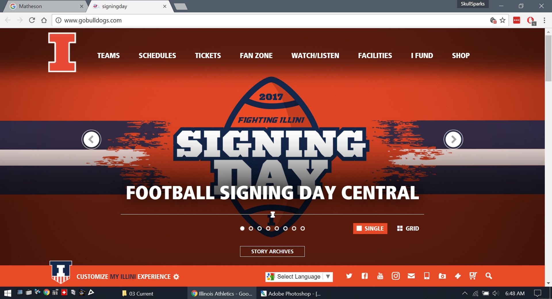 Illinois football signs team schedule day