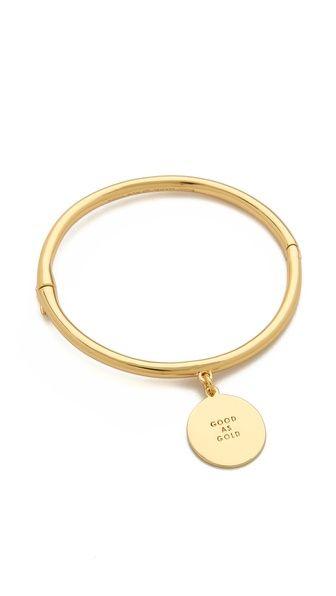 Kate Spade New York Good As Gold Charm Bangle Bracelet Hanging