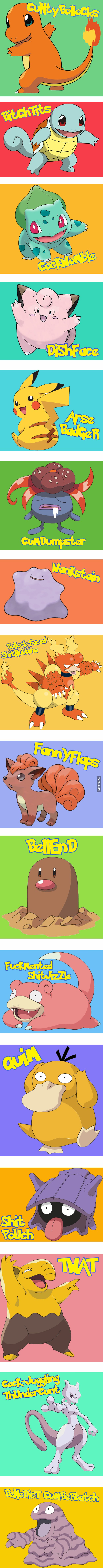 If Pokémon Were Named By British People | Pinterest Humor