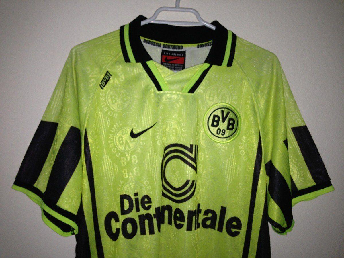 Camiseta Borussia Dortmund 1996-1997 Nike  6ebfb4ae6adcf
