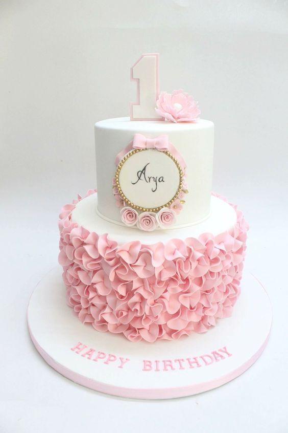 1st Birthday Cake For Baby Girl 1st Baby Birthday Cake