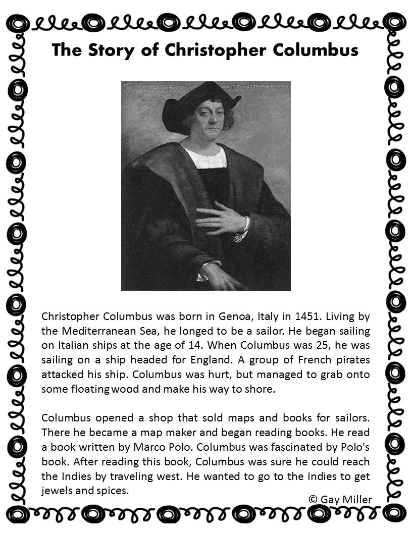 Columbus Day Activities   Book Units Teacher   Book activities [ 1056 x 816 Pixel ]