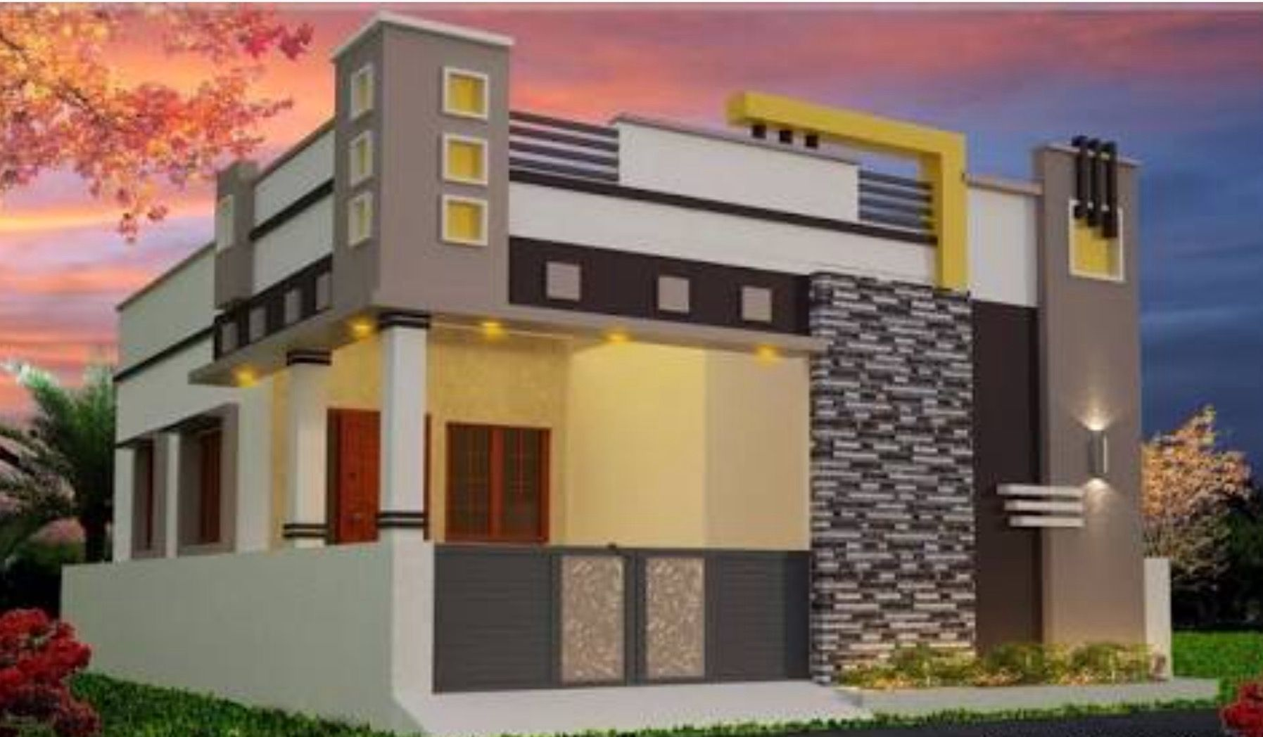 Independent house... Independent house, Facade house