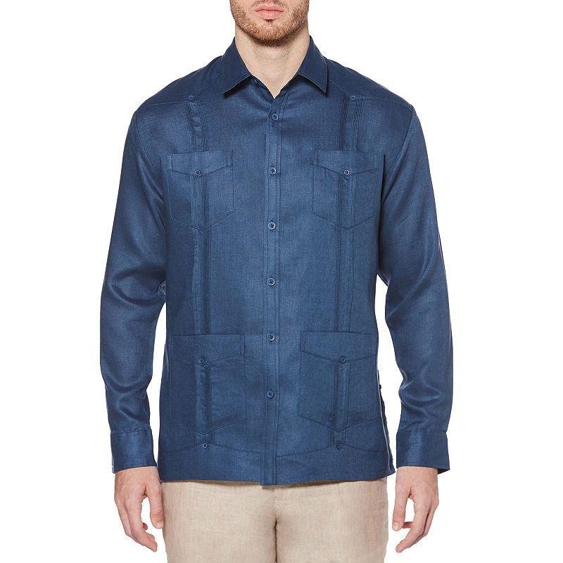 Cubavera 100 Linen Long Sleeve 4 Pocket Guayabera Guayabera Shirt Guayabera Casual Button Down Shirts