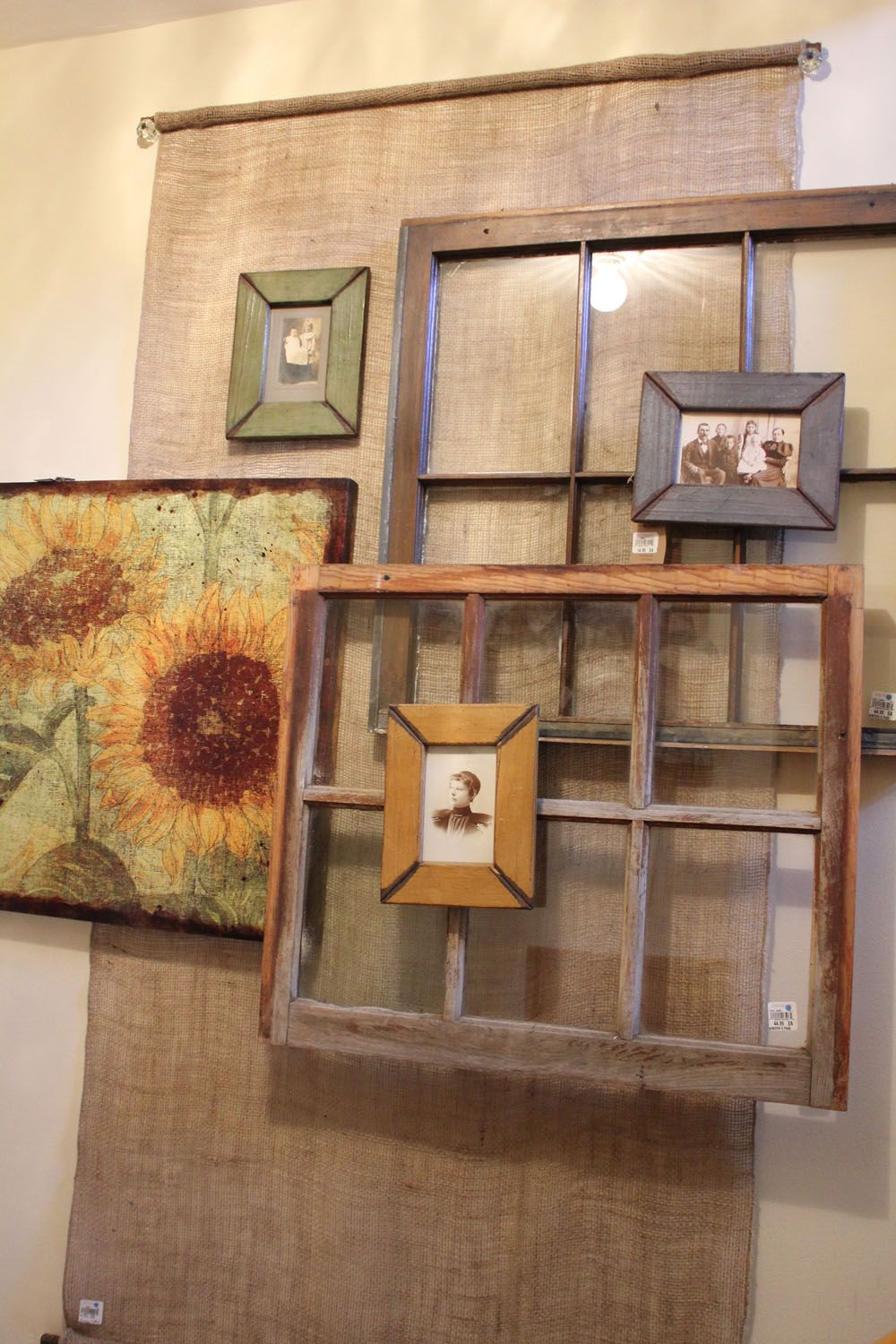 Window cover up ideas  layered old windows etc  my future home  pinterest  an  and