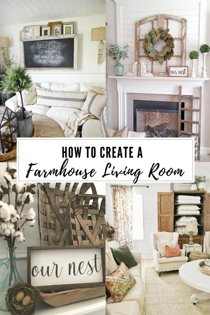 How to Get a Farmhouse Look in Your Living Room ...