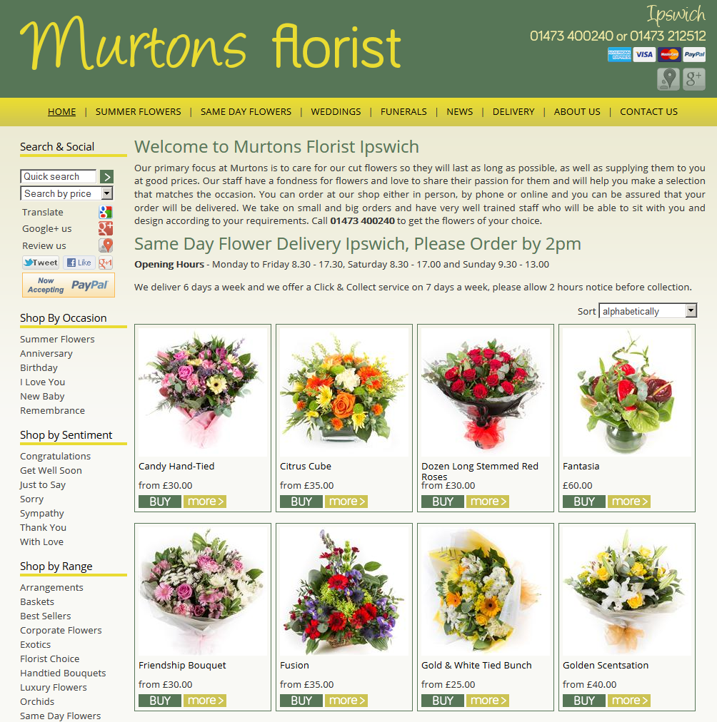 Murtons Florist Ipswich Our Most Simple Most Favorite Layout