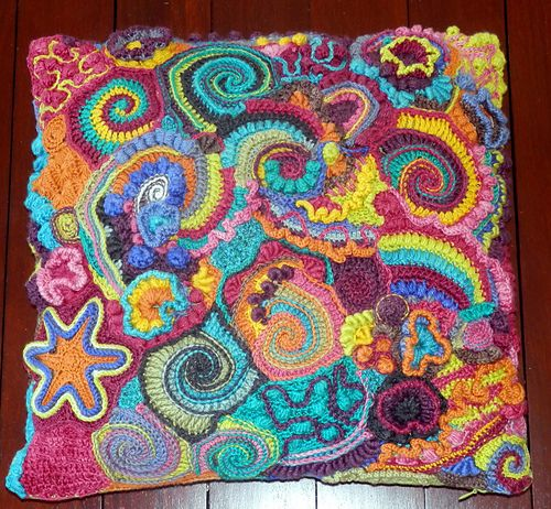 Ravelry: mbcrochet's Multi-colour Swirl Free form Pillow