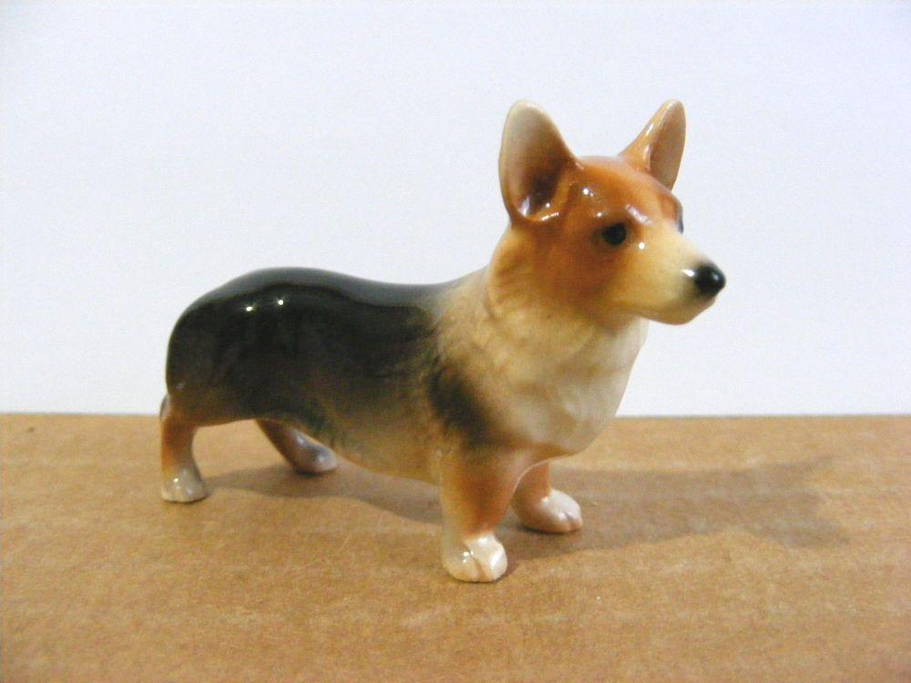 Hagen Renaker Corgi Miniature Animal Figurine Dog Vintage Dog Corgi Animals