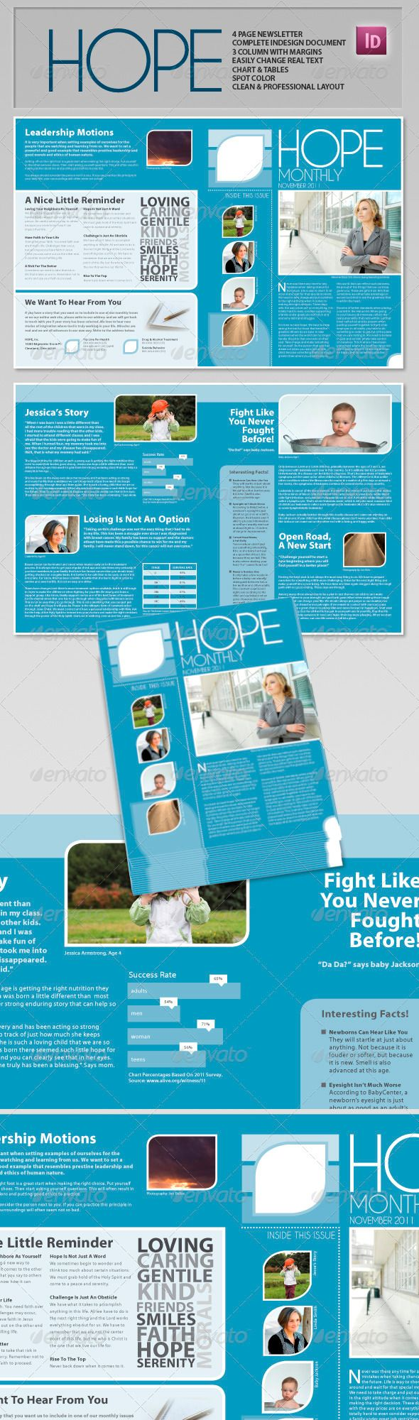 Hope - Clean Professional Newsletter | Pinterest | Newsletter ...