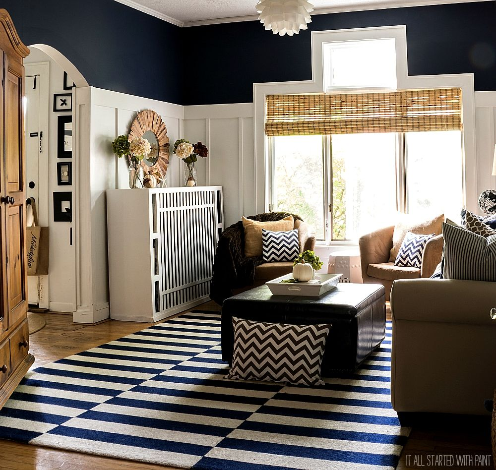Grey Blue And Brown Living Room Design: Blue Living Room Decor, Navy