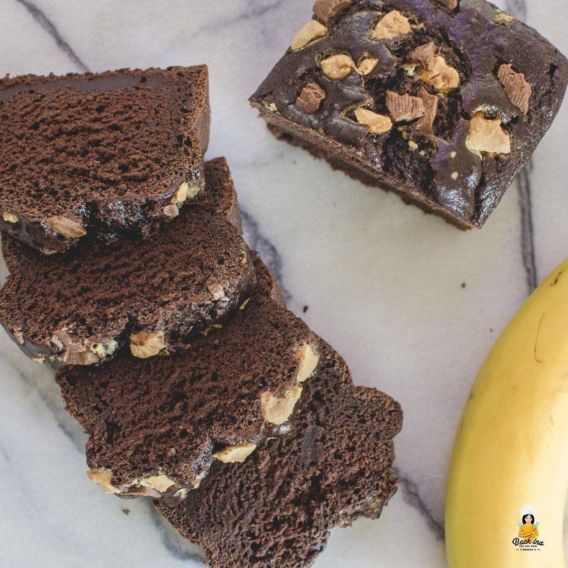 Saftiges Schoko Bananenbrot ohne Zucker, Weizen und Fett | BackIna.de