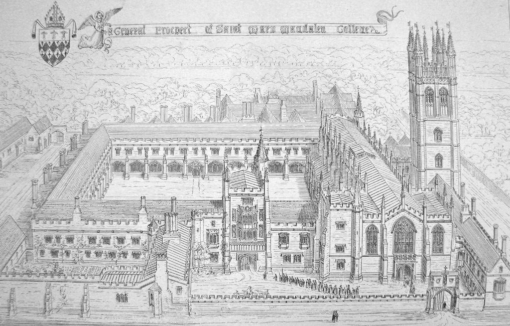 https://flic.kr/p/KQBge   Magdalen College   From Pugin's 'True Principles of Pointed Architecture' (1841). Uploaded for  this post.