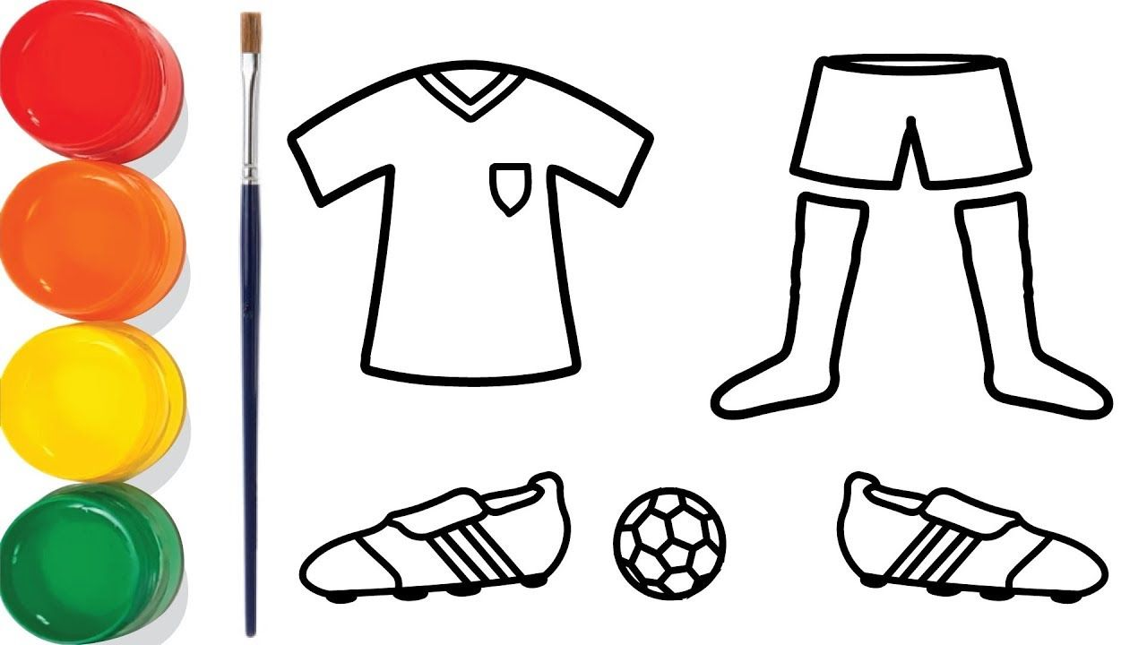 Soccer Jersey Football Drawing And Coloring Pages For Kids
