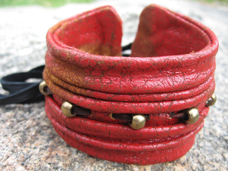 e361e983305a3 Bohemian Jewelry Leather Bicep Cuff Upper Arm Bracelet, Black ...