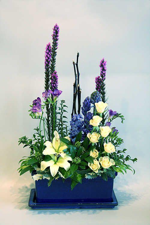 Parallel Design One Sides Pieces Flower Arrangement