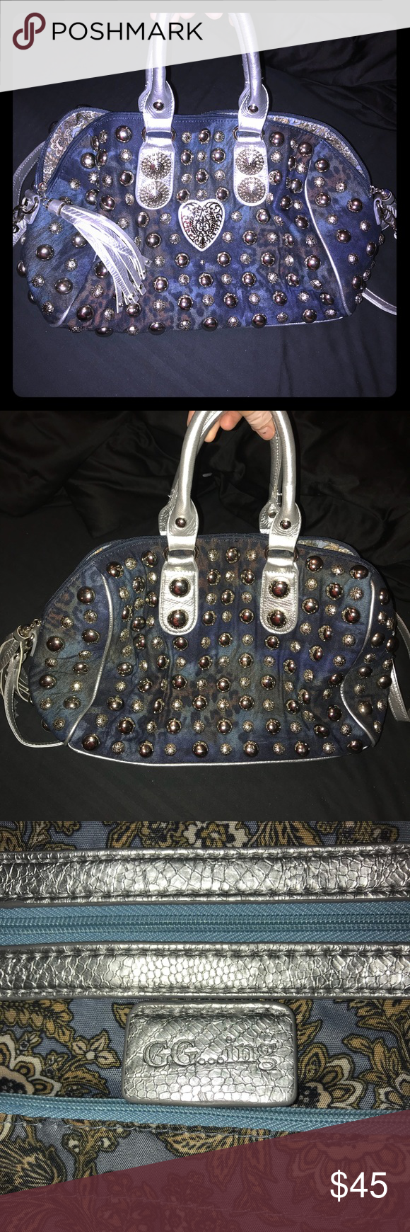 Ing Studded Shoulder To Crossbody Purse Gg