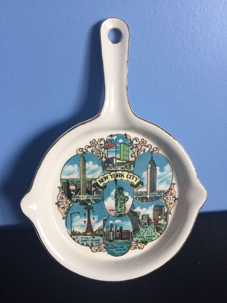 NEW YORK CITY Vintage Japan Ceramic State Hanging Art Plate Souvenir  | eBay
