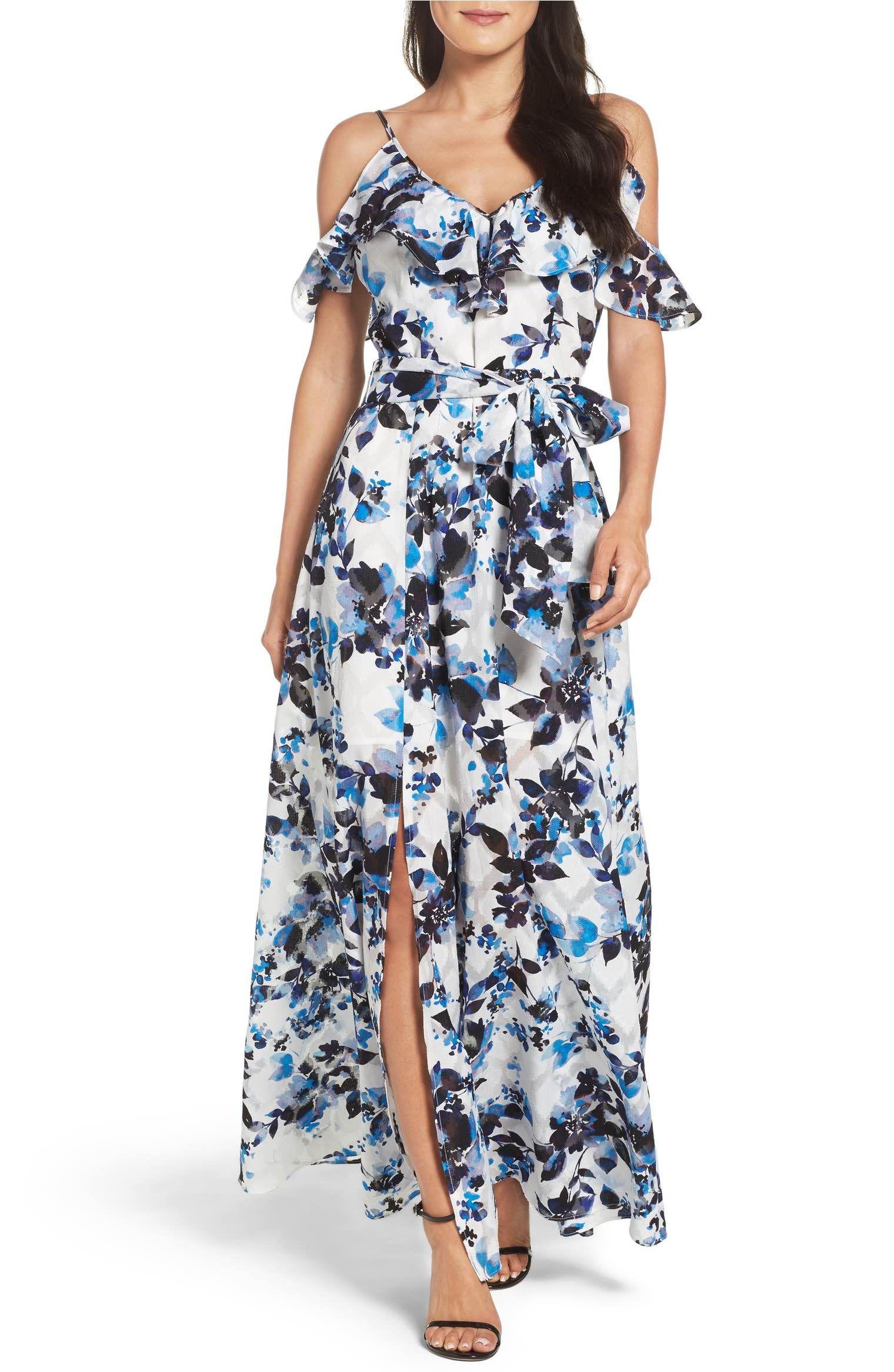6c1a16747c1 Eliza J Cold Shoulder Maxi Dress (Regular   Petite)