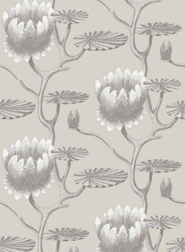 Summer Lily - Designtapete von Cole \ Son - Taupe and White - tapeten design schlafzimmer