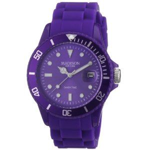ec3d4b5c57 Madison New York Time Unisex Watch Candy purple silicone analog U4167-01/2  Top Picks for