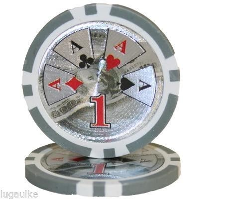 SALE Lot of 150 x 14 Gram Ben Franklin $1 #casino / #poker chips New FREE SHIPPING