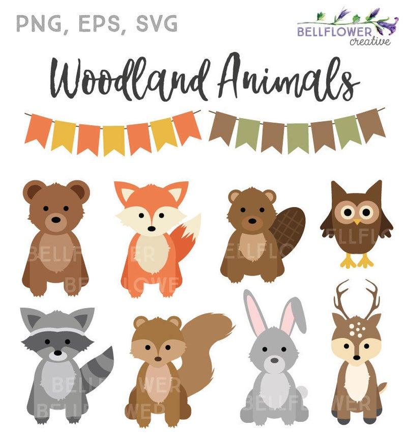 Woodland Animals Svg Woodland Animals Clipart Fall Autumn Etsy In 2020 Woodland Animals Woodland Animals Theme Autumn Animals