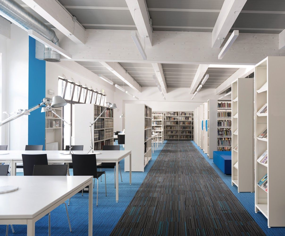 Floor Designs For Reading Spaces And Libraries This Blue Carpet